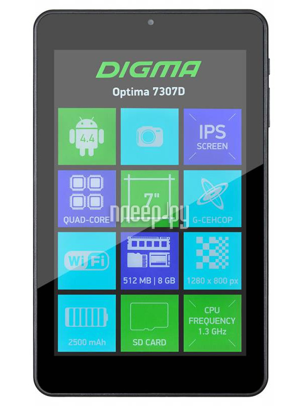 Планшет Digma Optima 7307D (ARM Cortex A7 1.3 GHz / 512Mb / 8Gb / Wi-Fi / Cam / 7.0 / 1280x800 / Android)