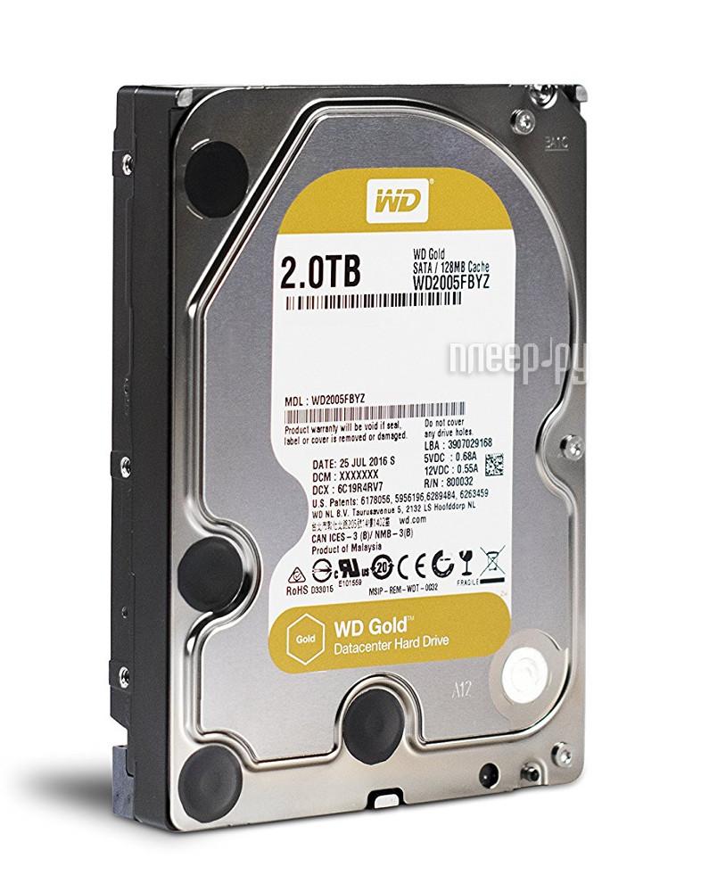 Жесткий диск 2Tb - Western Digital WD Gold WD2005FBYZ