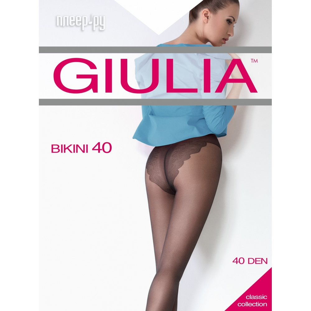 Колготки Giulia Bikini размер 2 плотность 40 Den Playa