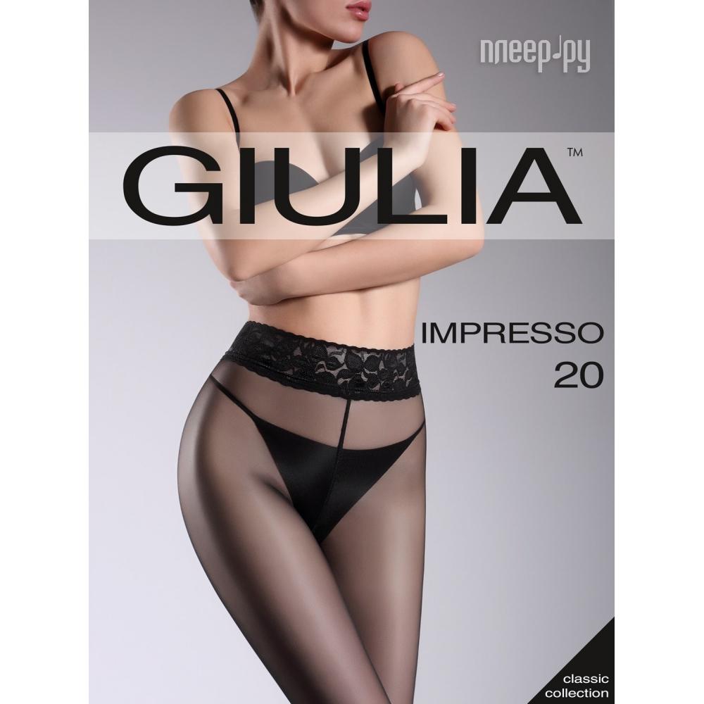 Колготки Giulia Impresso размер 4 плотность 20 Den Nero