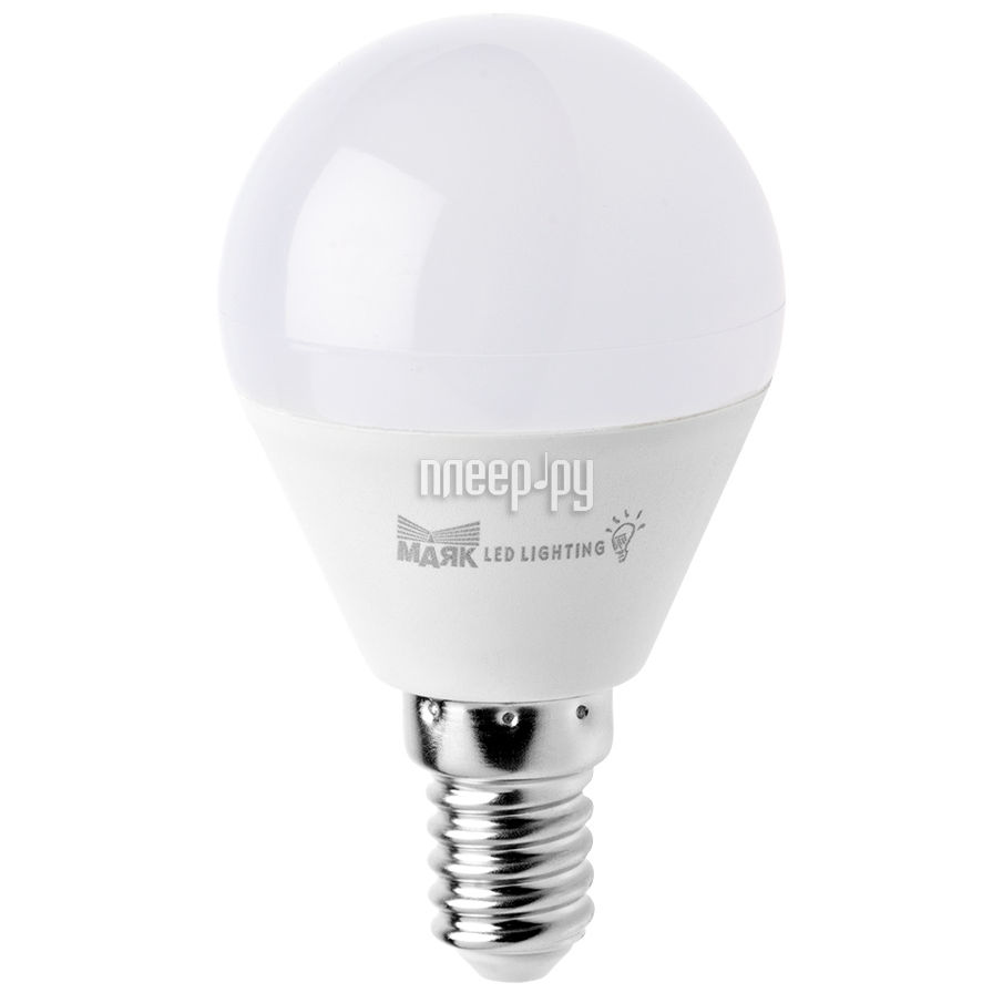 Лампочка Маяк LB-G45-E14 / 6W / 3000-001 шар