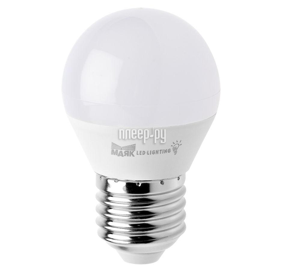 Лампочка Маяк LB-G45-E27 / 6W / 4000-001 шар