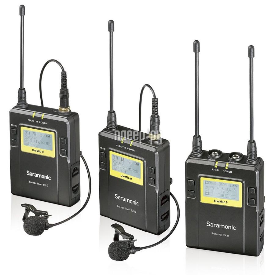 Микрофон Saramonic UWMIC9 2-х канальный TX9+TX9+RX9