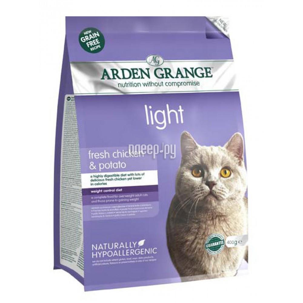Корм Arden Grange диетический 0.4kg для взрослых кошек AG614238