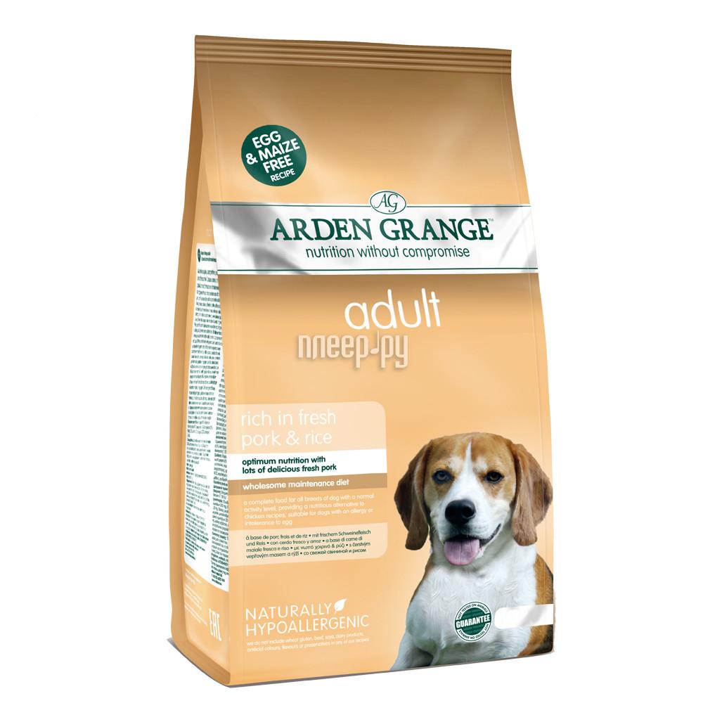 Корм Arden Grange со свининой и рисом 2kg для взрослых собак AG626286 за 681 рублей