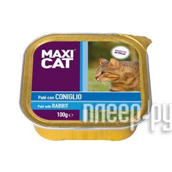 Корм MAXI CAT Паштет с кроликом 100g для кошек MC472164 купить