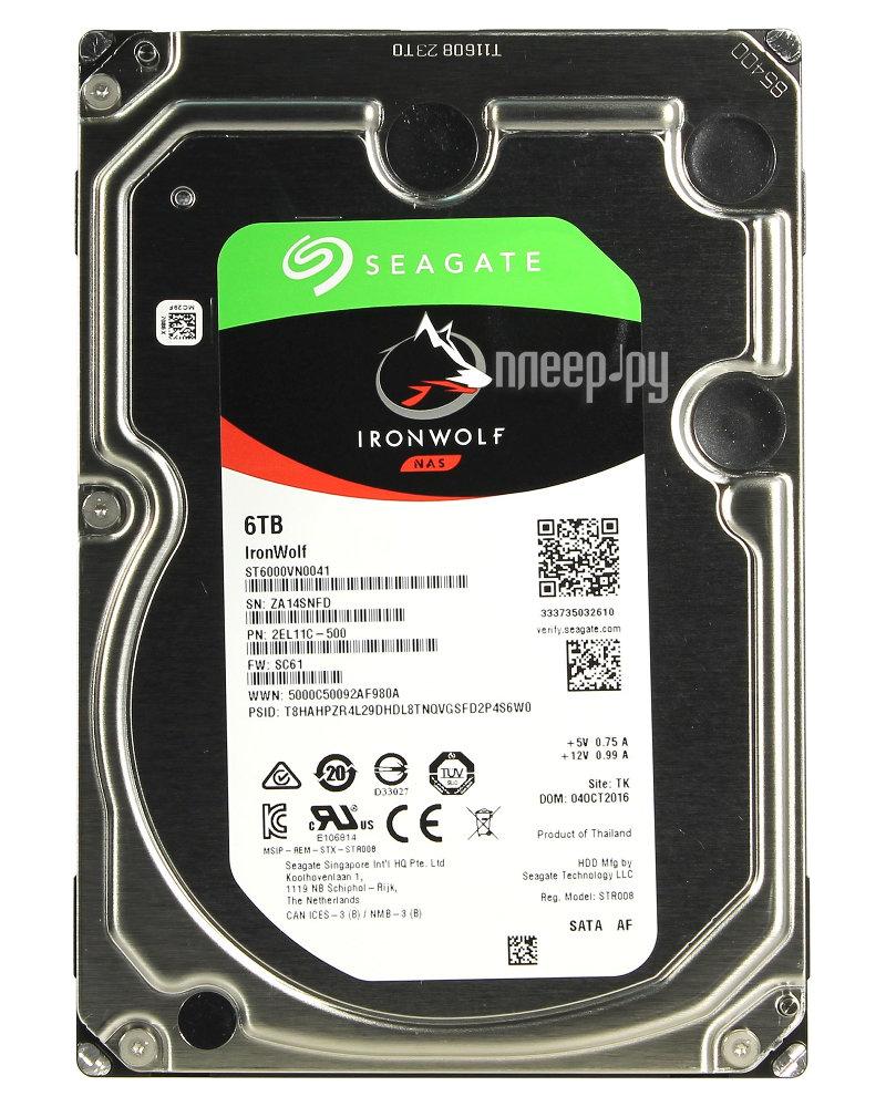 Жесткий диск 6Tb - Seagate IronWolf ST6000VN0041 купить