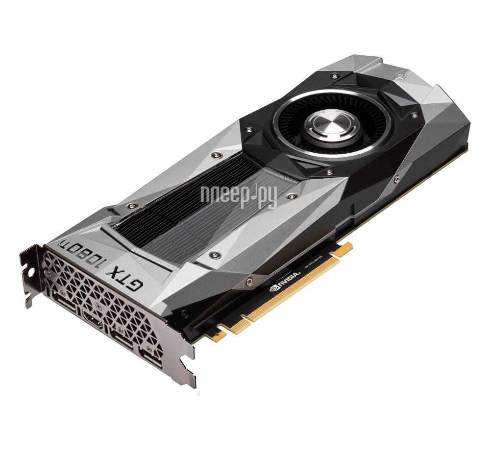 Видеокарта ASUS GeForce GTX 1080 Ti 1480Mhz PCI-E 3.0 11264Mb 11010Mhz 352 bit HDMI HDCP Founders Edition GTX1080TI-FE
