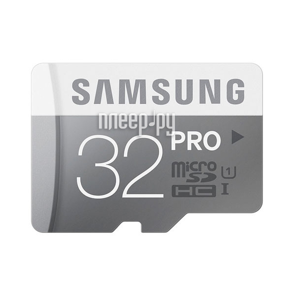 Карта памяти 32Gb - Samsung - Micro Secure Digital HC Pro Plus UHS-I U3 Class 10 SAM-MB-MD32GARU с переходником под SD