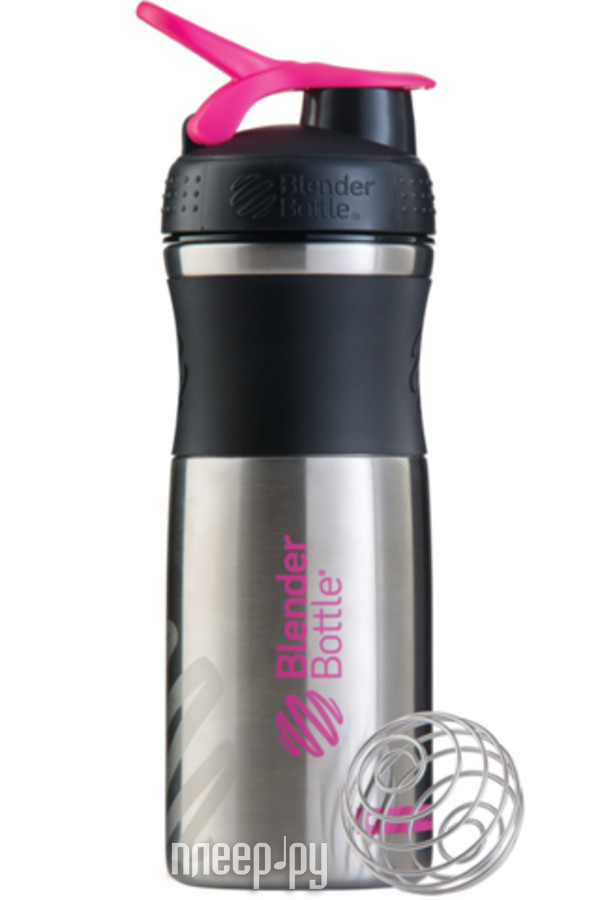 Шейкер BlenderBottle SportMixer Stainless 828ml Black-Pink BB-SMST-BLPI