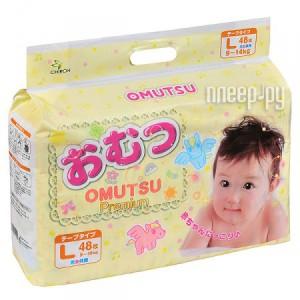 Купить Подгузники OMUTSU L 9-14кг 48шт