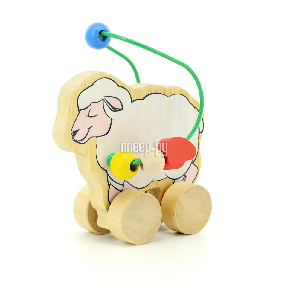 Игрушка Мир деревянных игрушек Лабиринт-каталка Овца Д366