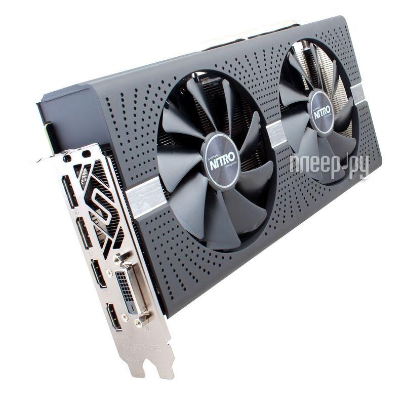 Видеокарта Sapphire Nitro+ Radeon RX 580 4G 1380Mhz PCI-E 3.0 4096Mb 8000Mhz 256 bit DVI HDMI 11265-07-20G