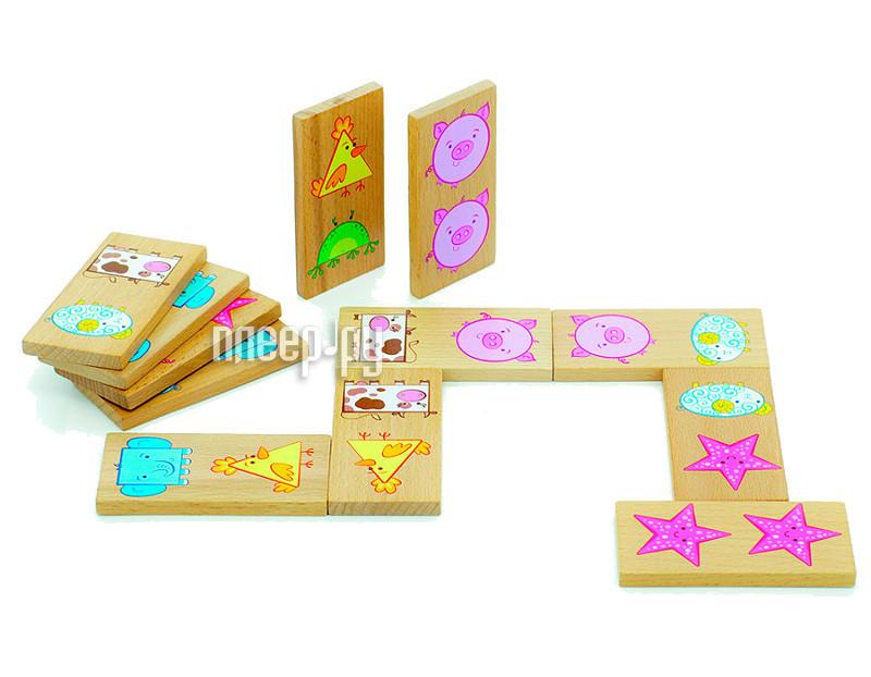 Настольная игра Мир деревянных игрушек Домино Фигуры Д394