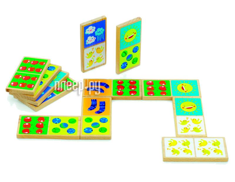 Настольная игра Мир деревянных игрушек Домино Счёт Д395