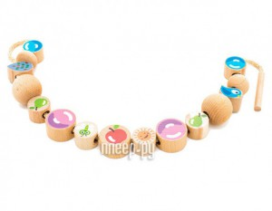 Купить Игрушка Мир деревянных игрушек Бусы Ассорти 48шт Д416