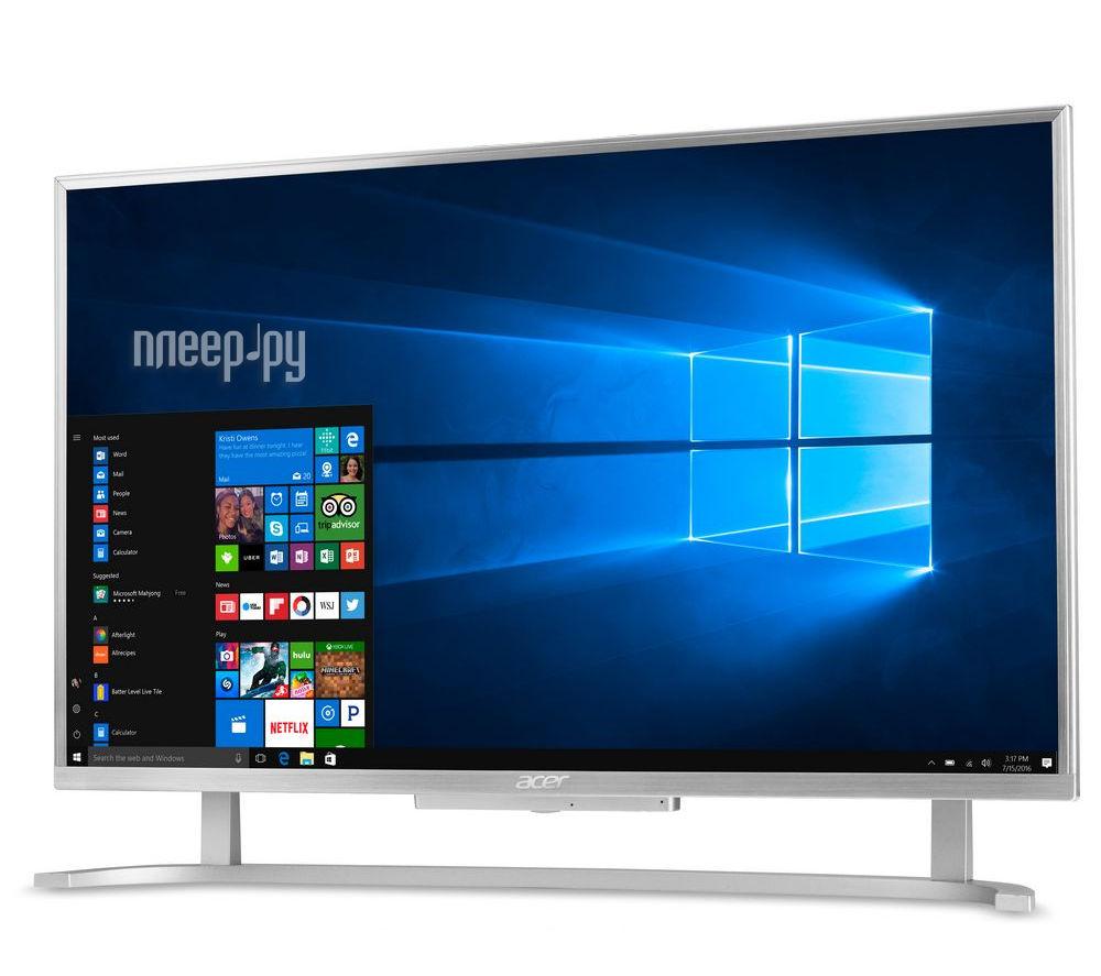 Моноблок Acer Aspire C24-760 Silver DQ.B7EER.004 (Intel Core i3-6100U 2.3 GHz / 4096Mb / 1Tb / Intel HD Graphics 520 / Wi-Fi / 23.8 / 1920x1080 / Windows 10)