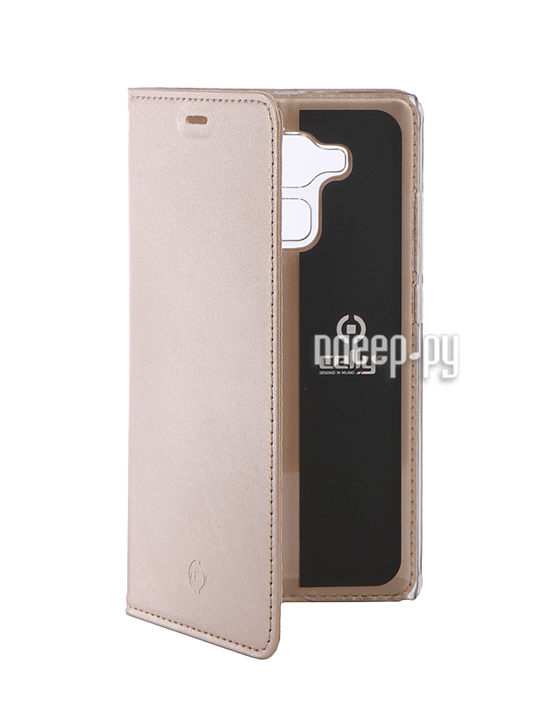 Аксессуар Чехол Huawei Honor 5С Celly Air Gold AIR588GDCP