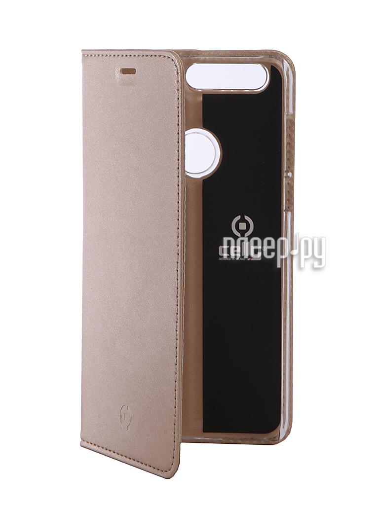 Аксессуар Чехол Huawei Honor 8 Celly Air Gold AIR610GDCP