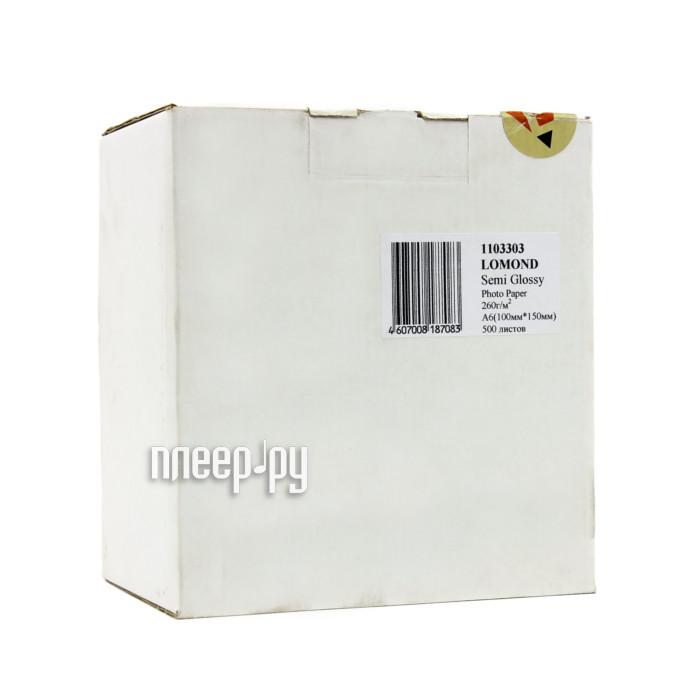 Фотобумага Lomond 1103303 полуглянцевая A6 260g/m2 500 листов