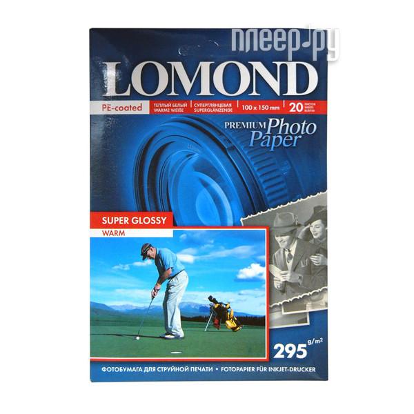 Фотобумага Lomond 1108103 суперглянцевая A6 295g/m2 20 листов