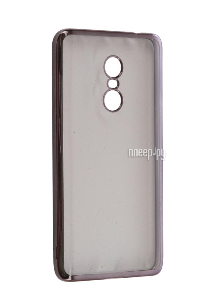 Аксессуар Чехол Xiaomi Redmi Note 4 iBox Blaze Silicone Black frame