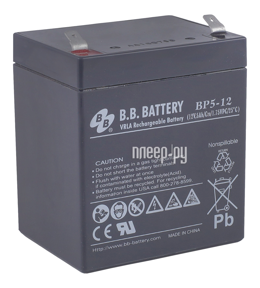 Аккумулятор для ИБП B.B.Battery BP 5-12