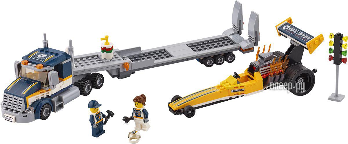 Конструктор Lego City Great Vehicles Грузовик для перевозки драгстера 60151