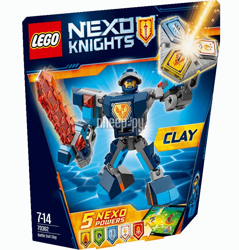 Конструктор Lego Nexo Knights Боевые доспехи Клэя 70362