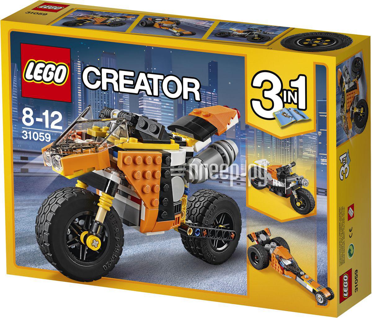 Конструктор Lego Creator Мотоцикл оранжевый