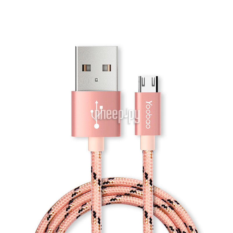 Аксессуар Yoobao USB - microUSB YB-423 Pink