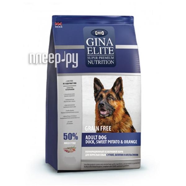 Корм Gina Elite GF Dog Duck,Sweet Potato,Orange 1kg 250007.0