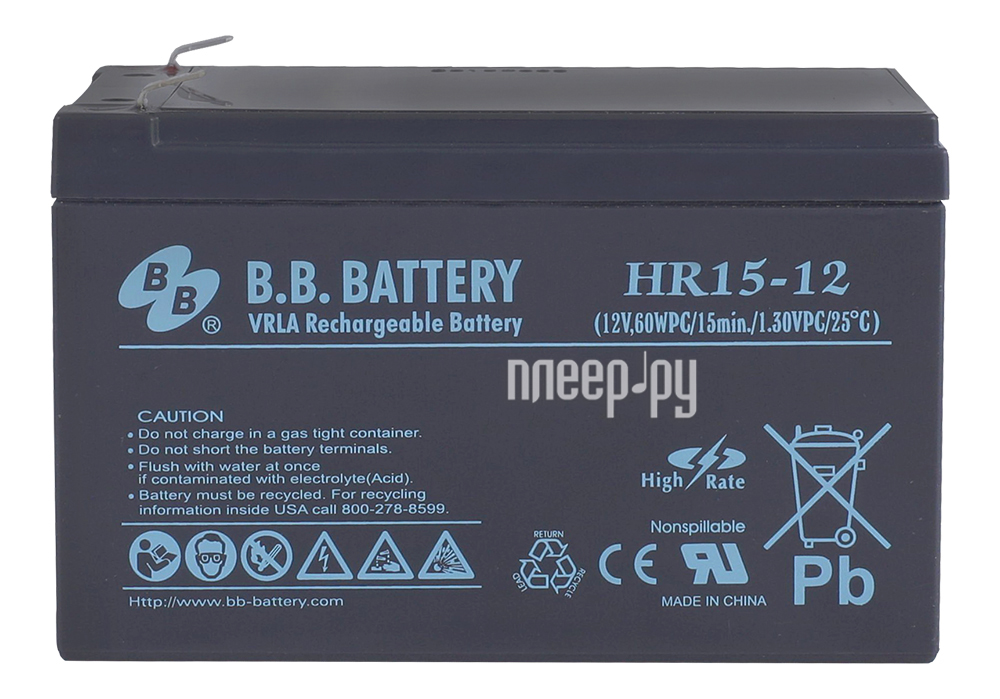 Аккумулятор для ИБП B.B.Battery HR 15-12