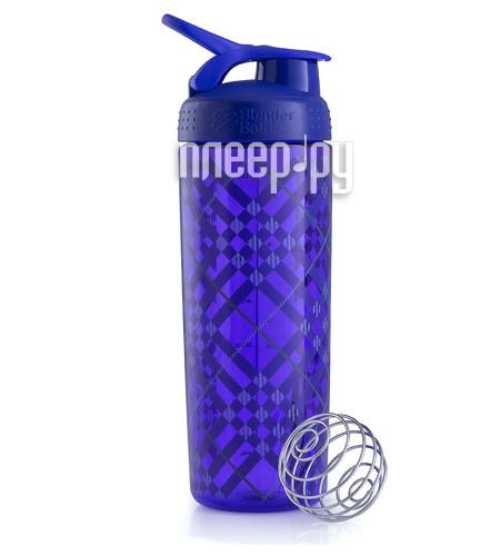 Шейкер BlenderBottle SportMixer Sleek 828ml Tartan Plaid Pattern Purple BB-SMSK-TAPL