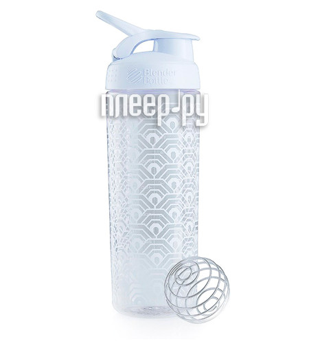 Шейкер BlenderBottle SportMixer Sleek 828ml Clamshell Pattern White BB-SMSK-CLAM за 658 рублей