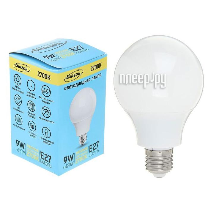 Лампочка Luazon E27 9W 2700К AL 1489117