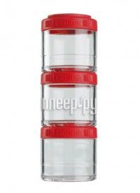 Набор контейнеров BlenderBottle GoStak 100ml Red BB-G100-REDD