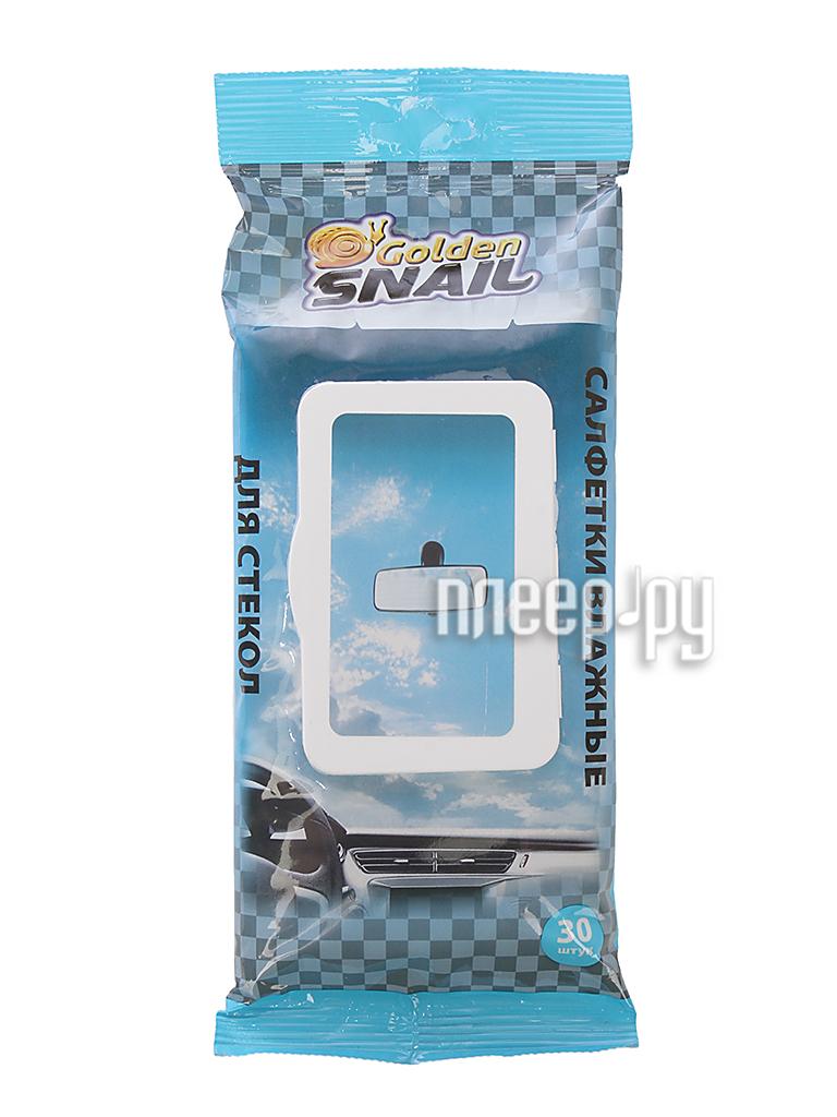 Golden Snail Салфетки влажные 30шт для стекол, зеркал и фар за 110 рублей