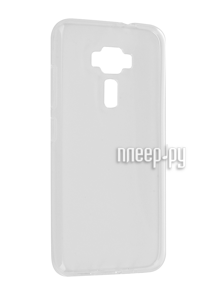 Аксессуар Чехол ASUS ZenFone 3 ZE520KL Gecko Transparent-Glossy White S-G-ASZ3-520KL-WH