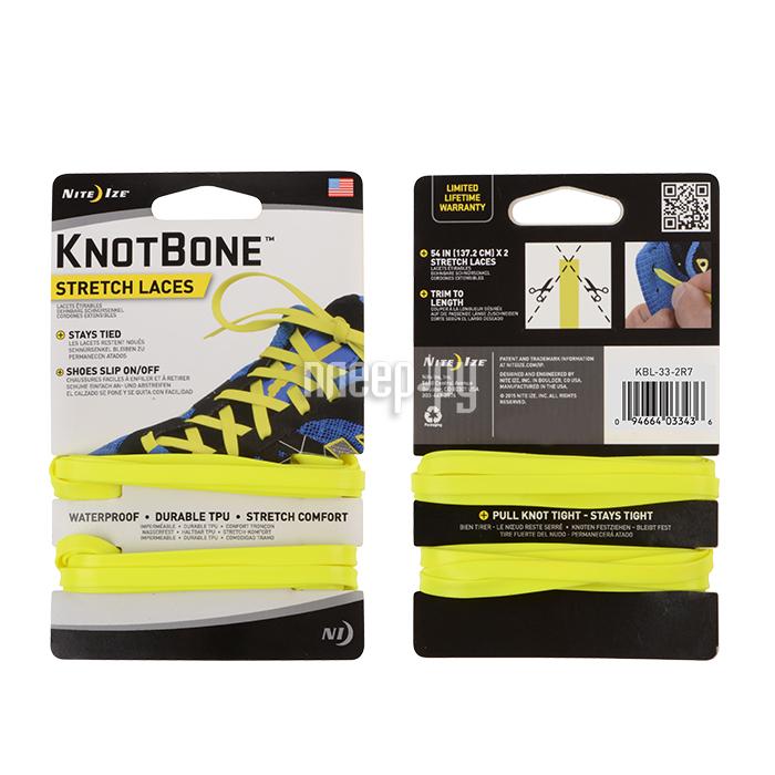 Гаджет Nite Ize KnotBone Stretch Laces шнурки спортивные Yellow KBL-33-2R7