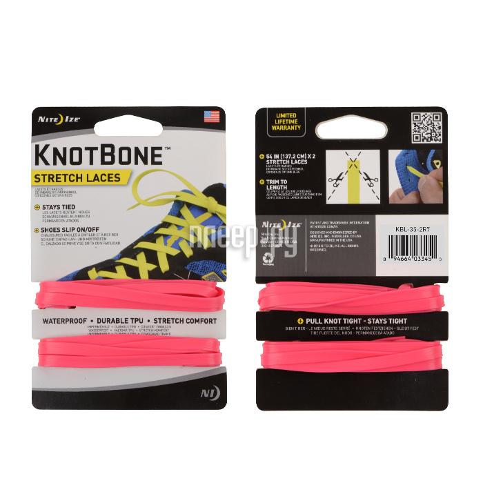Гаджет Nite Ize KnotBone Stretch Laces шнурки спортивные Pink KBL-35-2R7