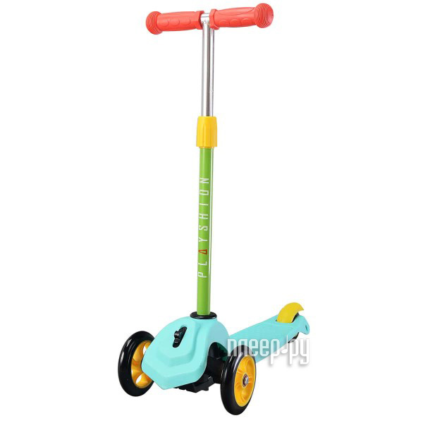 Самокат Playshion Mini Turquoise с блокировкой колес