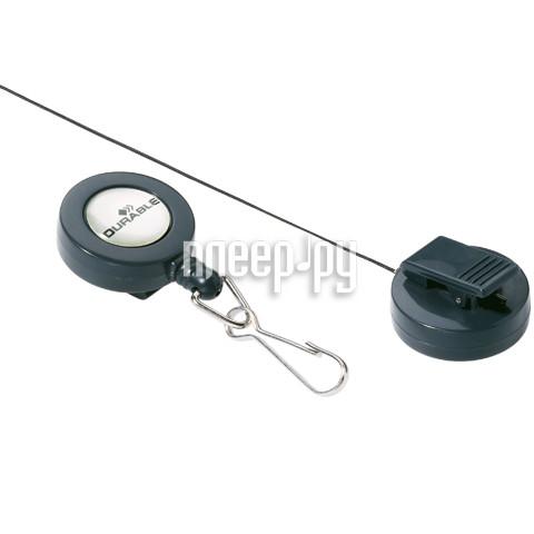 Гаджет Durable 8221-58 Dark Grey держатель-рулетка для бейджей