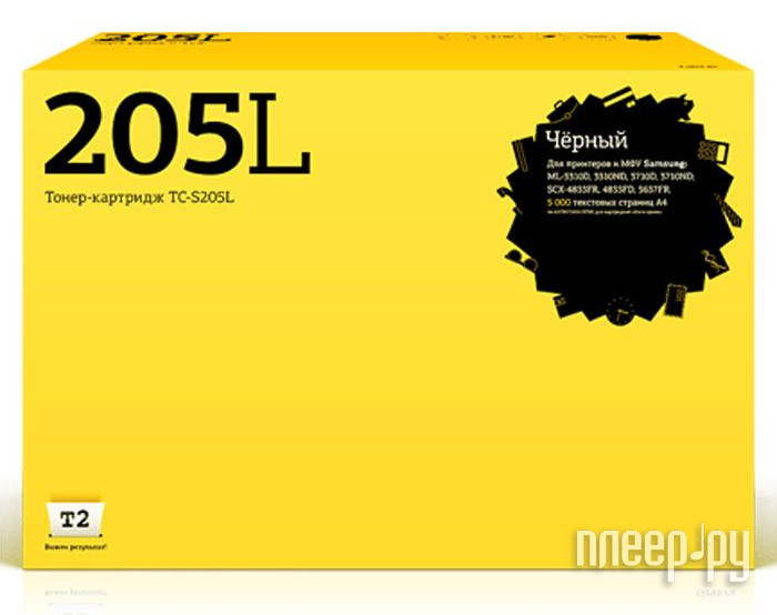 Картридж T2 TC-S205L для Samsung ML-3310D / 3310ND / 3710ND / 3710D / SCX-4833FR / 4833FD / 5637FR с чипом
