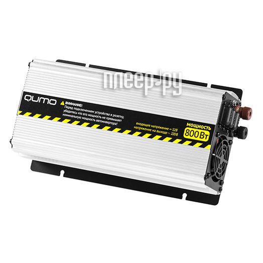 Автоинвертор Qumo 800W с 12В на 220В