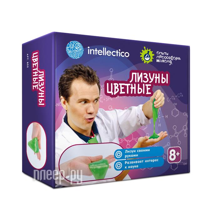 Набор для экспериментов Intellectico Опыты профессора Николя Лизуны цветные 855