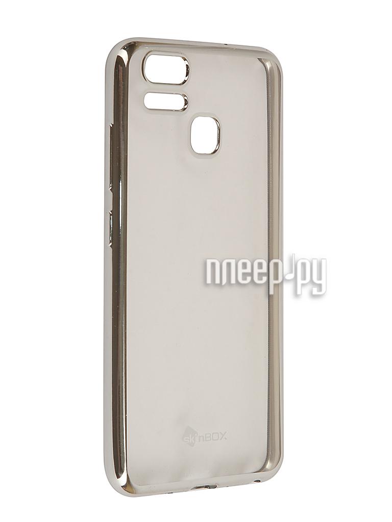Аксессуар Чехол ASUS ZenFone 3 ZE553KL Zoom SkinBox Silicone Chrome Border 4People Silver T-S-AZE553KL-008