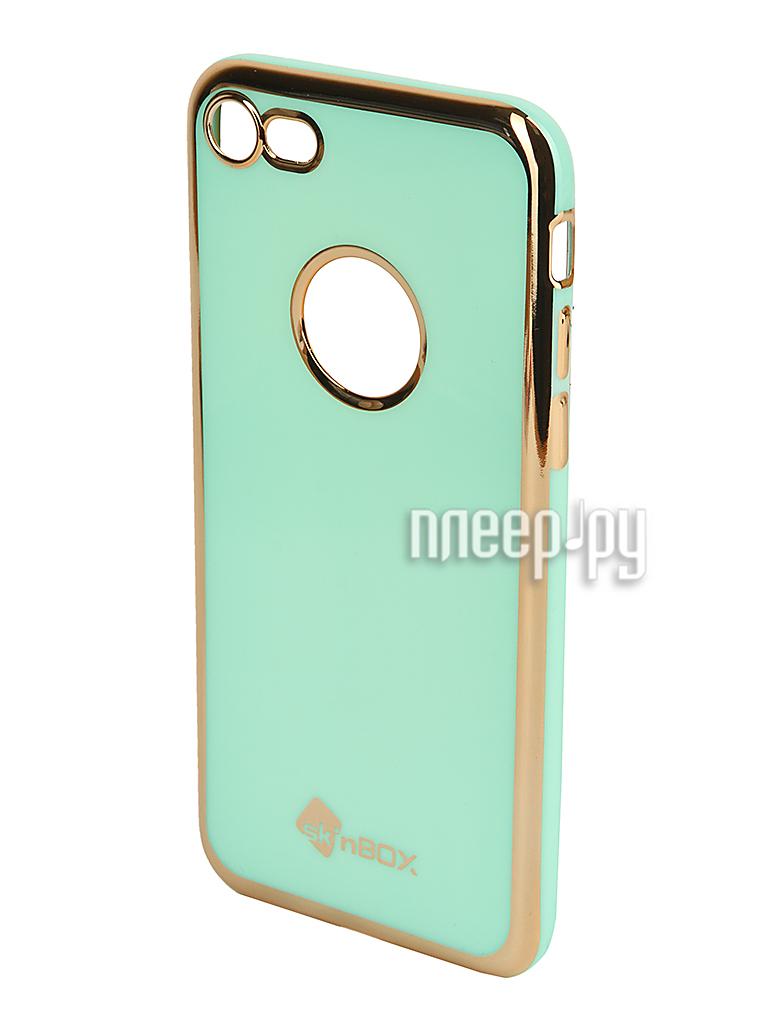 Аксессуар Чехол SkinBox Slim Silicone Color для iPhone 7 Mint T-S-AI7n-005