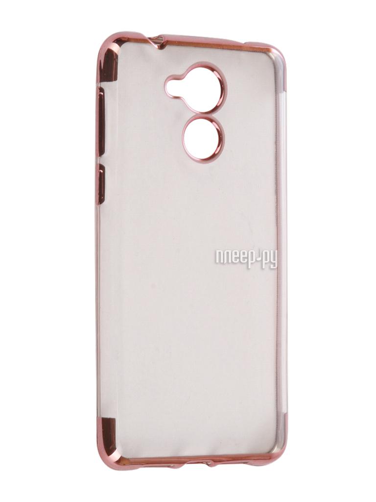 Аксессуар Чехол Huawei Honor 6C iBox Blaze Silicone Pink frame