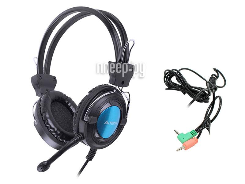 Гарнитура A4Tech HS-19 Black-Blue HS-19-3